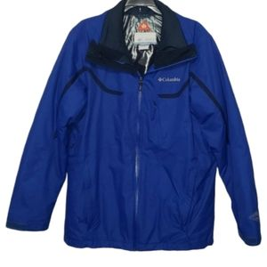 3/$30 COLUMBIA blue omni heat winter jacket medium